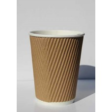 Ribbed Cups Triple Walled 12 oz