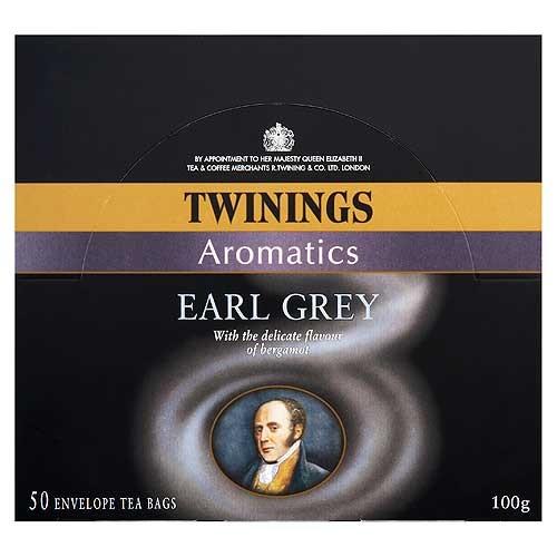 Twinings Earl Grey Tea - 50 Envelopes Plastic Shopping Bags With Logo