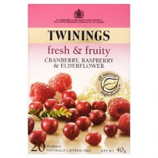 Twinings Fresh and Fruity - Cranberry & Raspberry - 20 Envelopes